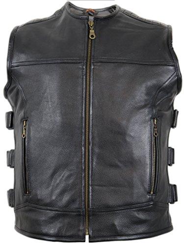Custom Lederweste aus echtem Leder (4XL)