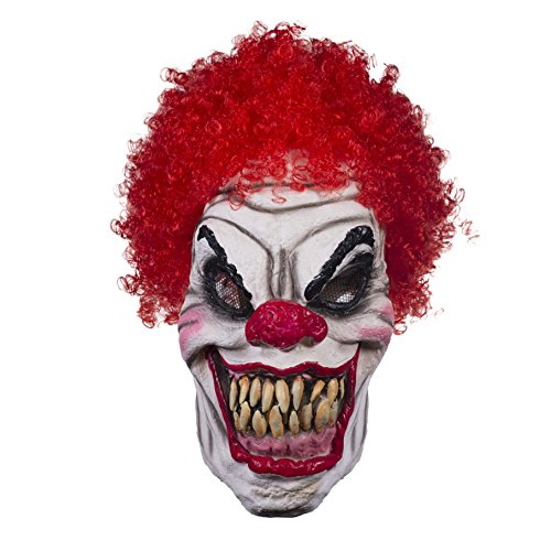 Clowns Are Scary As Hell (The Mask Biz Scary Monster Clown Head Mask Halloween - Latex)
