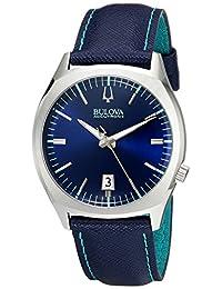 Bulova Men's Accutron II 96B212 Blue Leather Quartz Watch