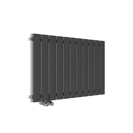 ELEGANT Paneelheizk/örper Horizontal 630 x 847 mm Anthrazit Badezimmer//Wohnraum Einlagig Horizontal Heizk/örper Badheizk/örper Design Flachheizk/örper