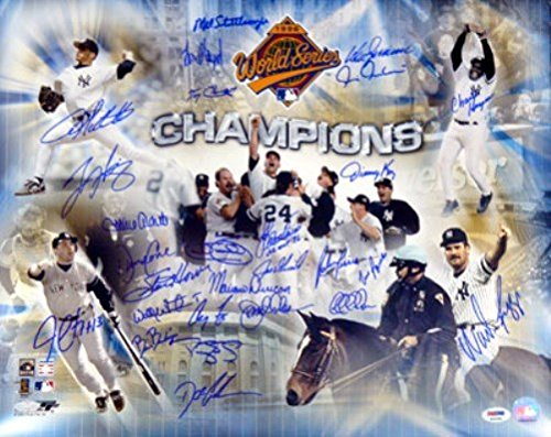 1996 World Series Champion New York Yankees Autographed 16x20 Photo With 27 Signatures Including Wade Boggs PSA/DNA (Wade Jersey Boggs Autographed)