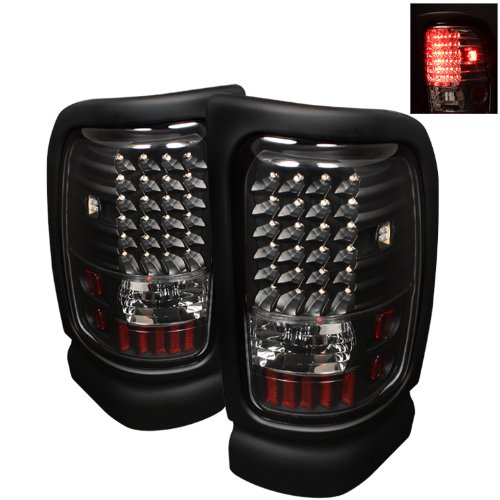 Spyder Auto ALT-ON-DRAM94-LED-BK Dodge RAM 1500/2500/3500 Black LED Tail Light (96 Dodge Ram Led Tail Lights)
