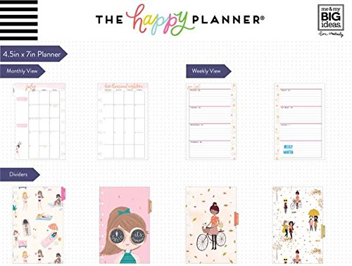 me & my BIG ideas MINI The Happy Planner, July 2018 to June 2019 Squad Goals, Ladies in Action, PLNM-70X
