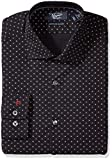 Original Penguin Men's Slim Fit Performance Spread Collar Printed Dress Shirt, Navy Foulard Print, 16 32/33