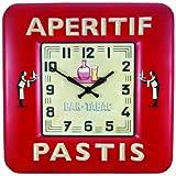 Roger Lascelles, Sqaure Tin Bistro Design Wall Clock