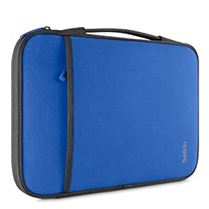 "Belkin Laptop Sleeve for Microsoft Surface Pro 3, Surface 3, Surface Pro 2, Surface Pro, MacBook Air '11, Small Chromebooks and Other 11"" Devices (Blue) by Belkin Components"