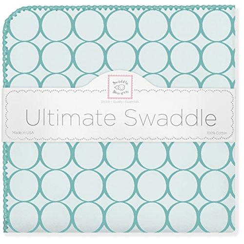 SwaddleDesigns Ultimate Swaddle Blanket Turquoise