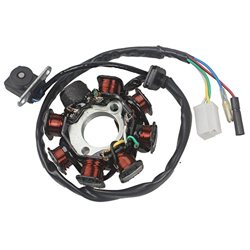 Atv Stator - Wingsmoto Ignition Stator Magneto 8 Coil 5 Wires GY6 50CC 60CC 80CC ATV Scooter TAOTAO Paliden 150cc scooter