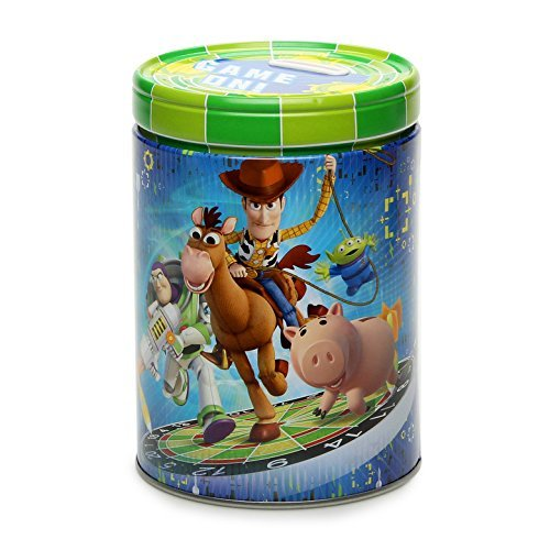 Toy Story Round Tin Coin Bank Game On