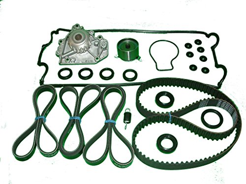 TBK Timing Belt Kit Honda CRV 1997 to 2001 Includes NPW of Japan water pump, Bando timing belt and drive belts, Koyo tensioner factory spring and Japanese made seals and valve cover set