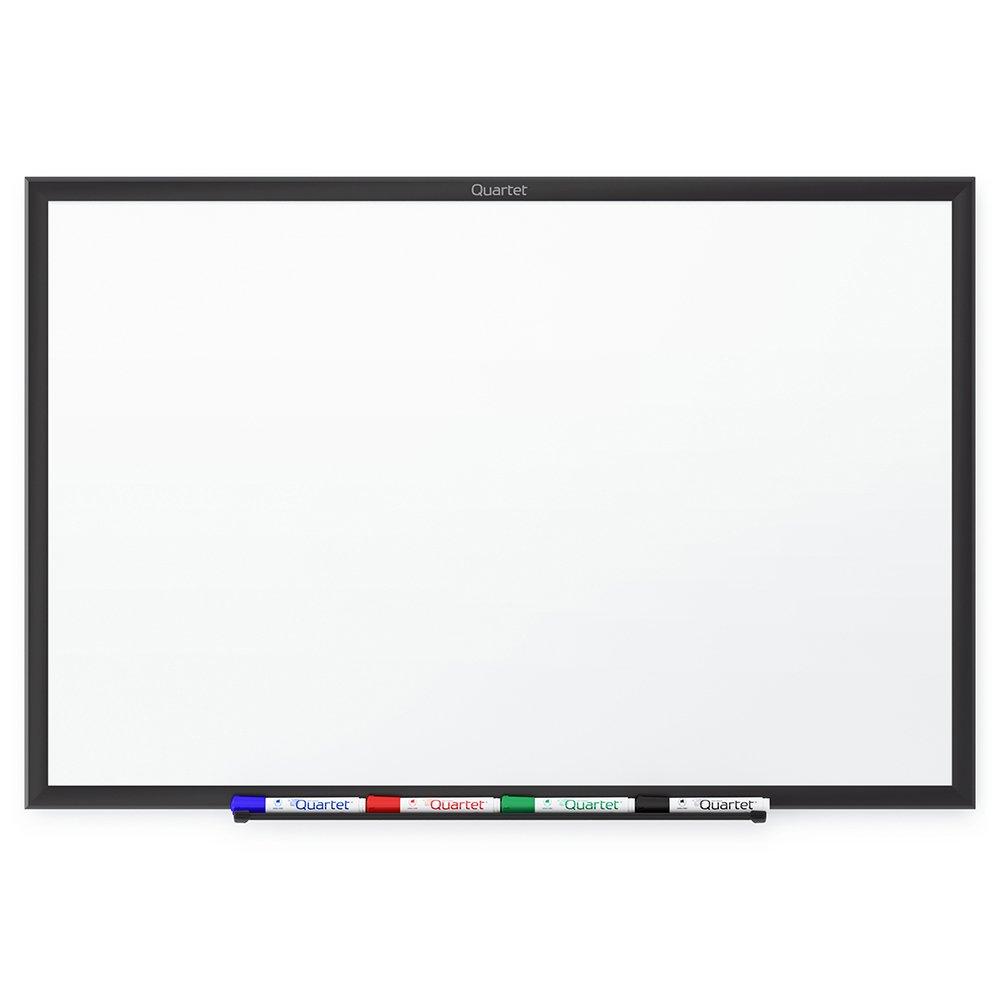 Quartet Whiteboard, Standard, Dry Erase Board, 8 x 4 Feet, Black Aluminum Frame (S538B)