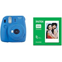 instax Mini 9 Camera - Cobalt Blue + Film 50 Shot Pack