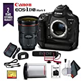 Canon EOS-1DX Mark II DSLR Camera W/Canon EF 24-70mm f/2.8L II USM Lens & Mic with 2 Year Extended Warranty (International Model) - Advanced Bundle
