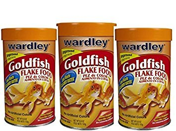 Goldfish Flake Food (3 Pack of Wardley Goldfish Flakes, 6.8oz per unit)