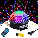 Tomshine Mini Disco Light DJ Lights LED Light Multi Color Changes Sound Activated Auto Run Remote Control Dual Speakers with USB Portable for Disco Stage Dancing Show KTV Party Wedding Pub Bar Club
