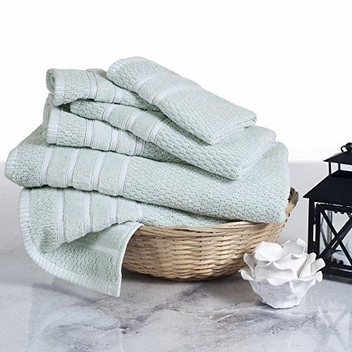 Lavish Home 100% Cotton Rice Weave 6 Piece Towel Set