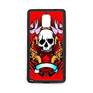 Samsung galaxy note 4 N9100 Skull Phone Back Case Customized Art Print Design Hard Shell Protection DF081469