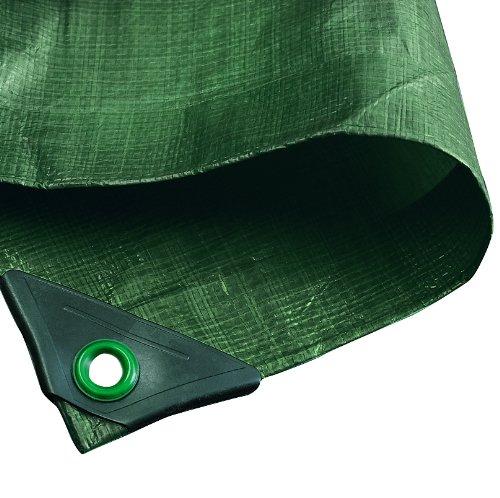 3 opinioni per Noor incatramata, 120 g / m², 2,00 x 2,00 m, colore: verde, PP / PE