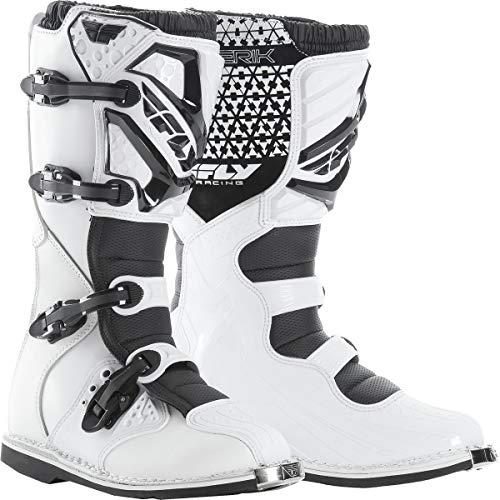 Fly Racing Unisex-Adult Maverick Mix Boots (White, Size 7)