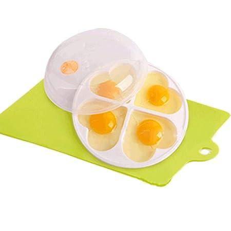 Yuaer 4 Tazas de Cazador furtivo de Huevos calefacción Horno ...