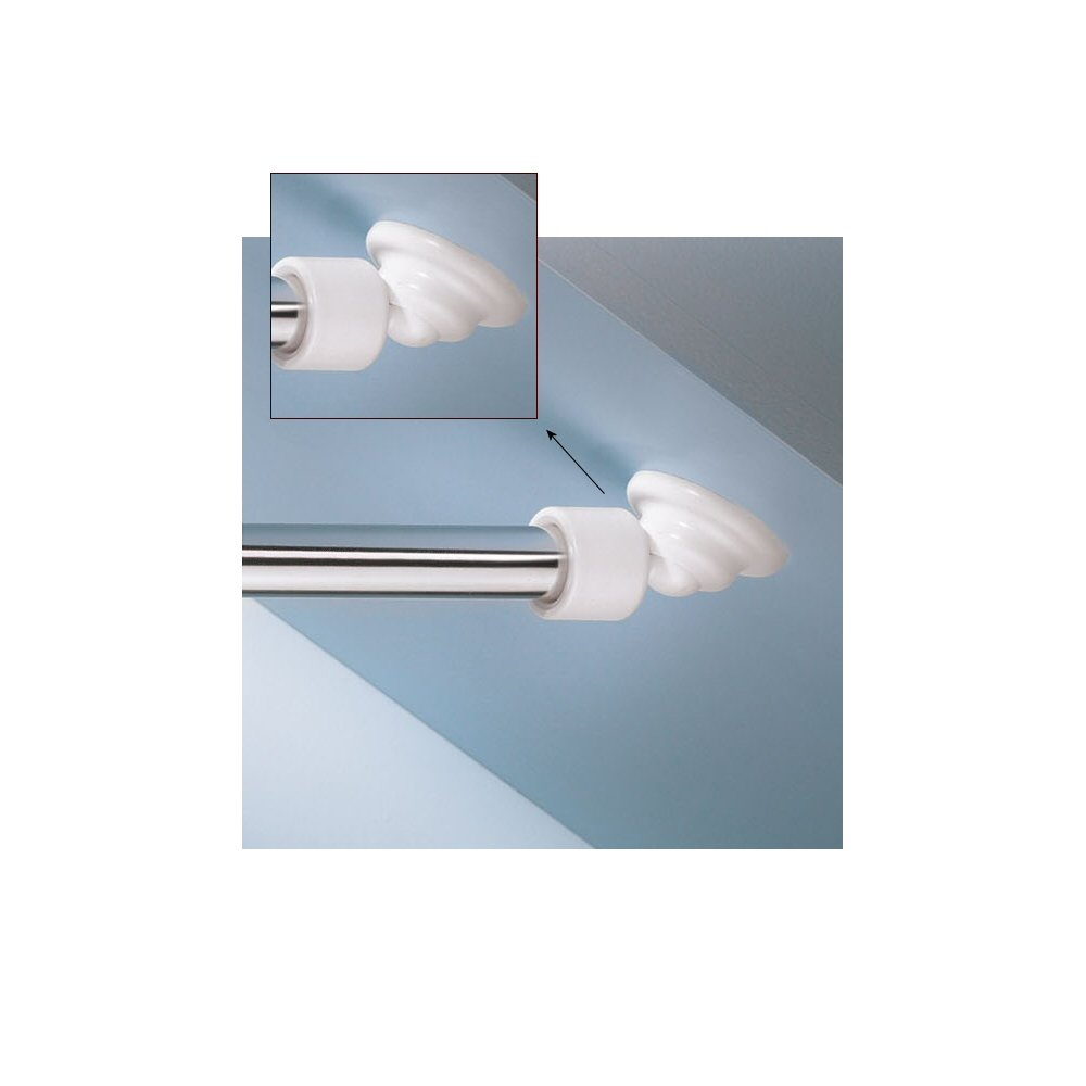 Kleine Wolke Angled Shower Rod Mount Sloped Walls - Low Cost Solution