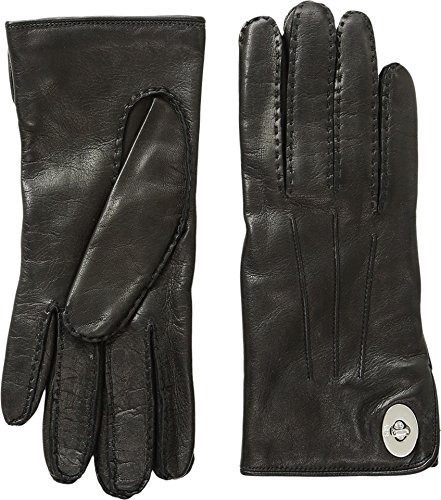 COACH Womens Leather Turnlock Gloves