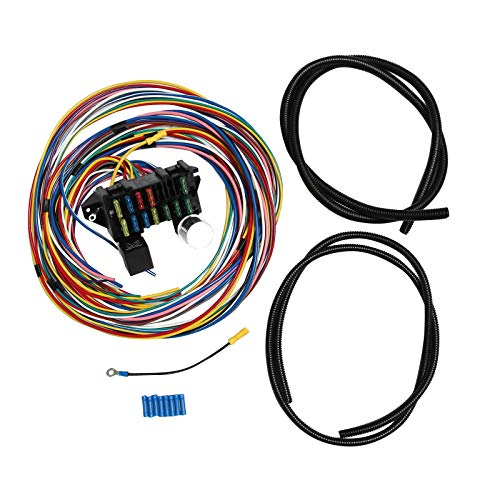 SUPERFASTRACING 12 Circuit Universal Wiring Harness Muscle Car Hot Rod Street Rod XL Wires