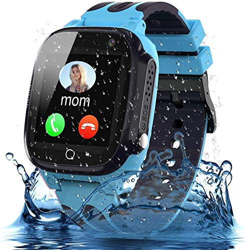 Smooce Kids Smartwatch Phone, Waterproof Smartwatch for Kids with LBS Tracker SOS Voice Chat and Camera Game for 3-12…
