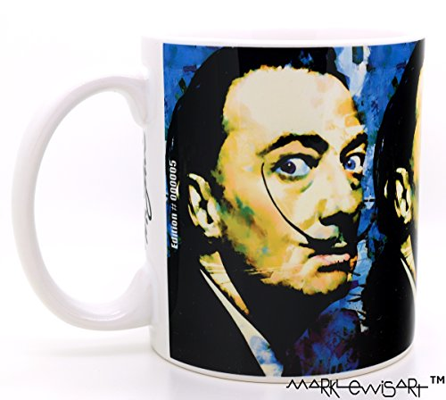 Mark Lewis Art Salvador Dali Mugs 11 oz Ceramic Cup. Your Elegant Mug is Hand Signed and Numbered. Salvador Dali Cup Collectible (Lewis Hand Signed)