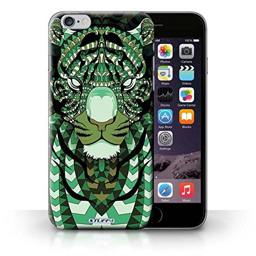 Hülle Case für iPhone 6+/Plus 5.5 / Tiger-Grün Entwurf / Aztec Tier Muster Collection