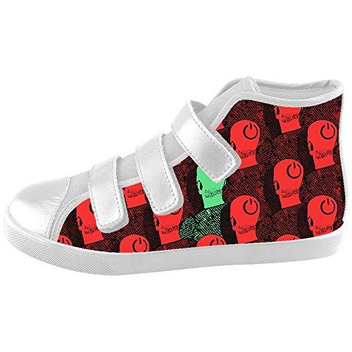 Daniel Turnai Fan Custom Kid's Shoes Shape Pattern New Velcro High Top Canvas