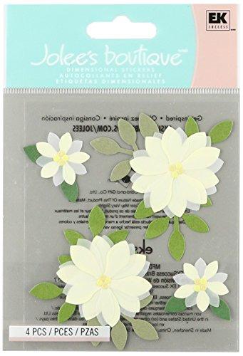 Jolee's Boutique SPJC034 Jolees Boutique Sticker 3D Vanilla Flowers