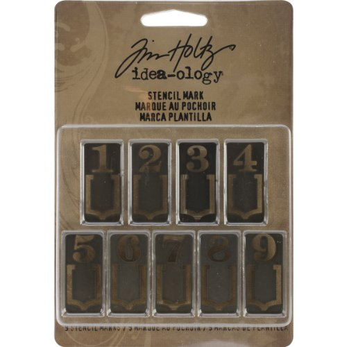 - Stencil Mark Metal Clips by Tim Holtz Idea-ology, 9 Marker Clips per Pack, 1.25 Inches Tall, Silver Finish, TH93067