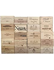 Vineyard Crates One (1) Decorative 6 Bottle Wine Crate - Wooden Box for Wine Storage Wedding Decor DIY Projects Garden Planter Boxes NO Lid NO Storage Inserts (6BtlStdNoLid)