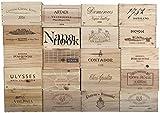 used wine crates Vineyard Crates One (1) Decorative 6 Bottle Wine Crate - Wooden Box for Wine Storage Wedding Decor DIY Projects Garden Planter Boxes NO Lid NO Storage Inserts (6BtlStdNoLid)