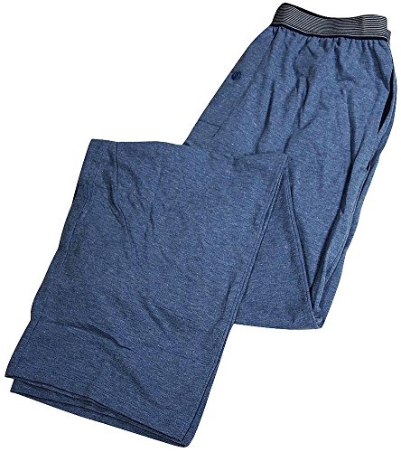 Hanes Men's Striped Band Cotton Jersey Sleep Pant, Blue, Small - Striped Mens Sleep Pant