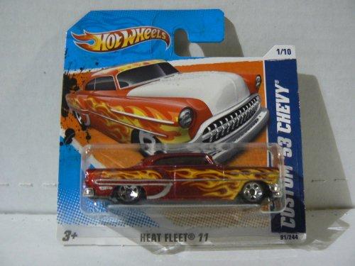 Hot Wheels Heat Fleet '11 1/10 Custom '53 Chevy on Short Card