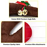 eletecpro Car Reindeer Antlers,Nose & Tail - Window Roof - Rudolph Reindeer Car Jingle Bell Set Christmas Costume Auto Accessories Christmas Decorations