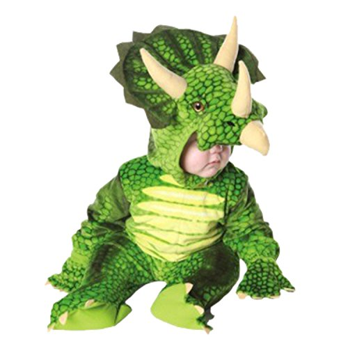Baby Triceratops Costume (NoveltyBoy Toddler T-Rex Costume Triceratops Toddler Child T-rex Dargon Costume Baby's T-Rex Suit Multicolor (Large, Green))