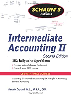 Intermediate accounting donald e kieso jerry j weygandt terry d schaums outline of intermediate accounting ii fandeluxe Choice Image