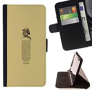 - Queen Pattern FOR Samsung Galaxy S4 Mini i9190 /La identificaci????n del cr????dito ranuras para tarjetas tir????n de la caja Cartera de cuero cubie - book vintage retro poem qu