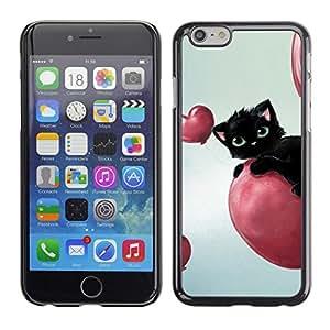 - BLACK BLUE CAT EYES BALLOON HEARTS PINK - - Monedero pared Design Premium cuero del tir???¡¯???€????€?????n magn???¡¯&
