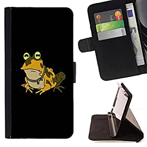 DEVIL CASE - FOR Samsung Galaxy A3 - Funny Hypnotic Frog Toad - Style PU Leather Case Wallet Flip Stand Flap Closure Cover