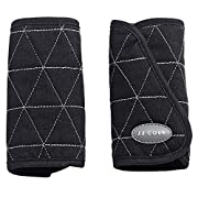 JJ Cole - Reversible Strap Covers, Helps Prevent Strap Irritation in Car Seat, Jogger, and Stroller for Newborns and Infants, Black Tri Stitch, Birth and Up, Black Tri Stitch, One Size
