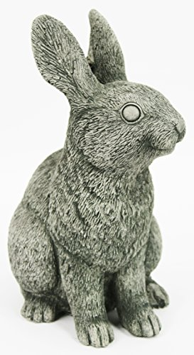 Cement Garden Sculpture - Rabbit Garden Statues Concrete Bunny Outdoor Ornamental Cement Sculpture
