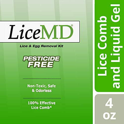 (LiceMD Head Lice Treatment- Liquid Gel and Lice Comb Eliminates 100% of Lice & Their Eggs, Pesticide Free & Non-Toxic Hair Conditioner, 4 oz. (Pack of 3))