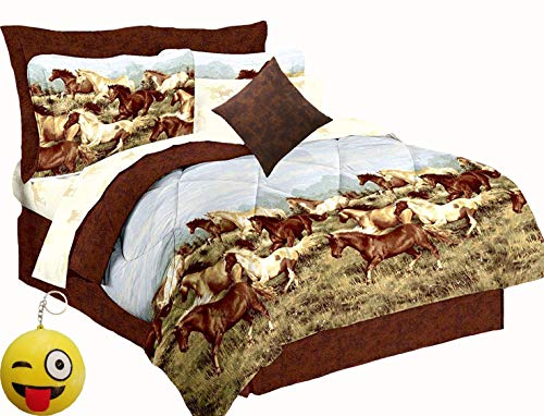 Majestic Running Show Horses & Ponies Brown 8Pc Comforter(101