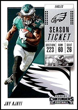 2018 Panini Contenders Season Tickets  22 Jay Ajayi NM-MT Philadelphia  Eagles Official NFL 438d1f1ad