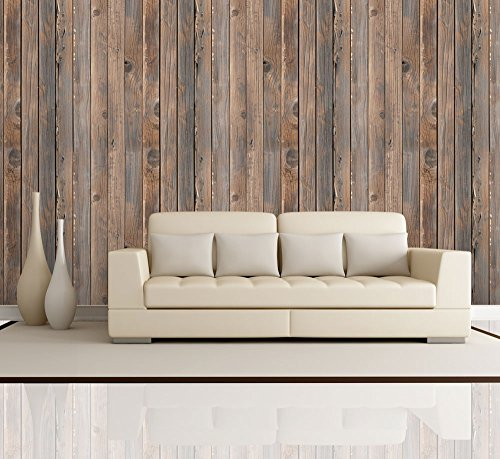 Cheap  Wall26 - Vertical Brown Vintage and Retro Wood Textured Paneling - Wall..