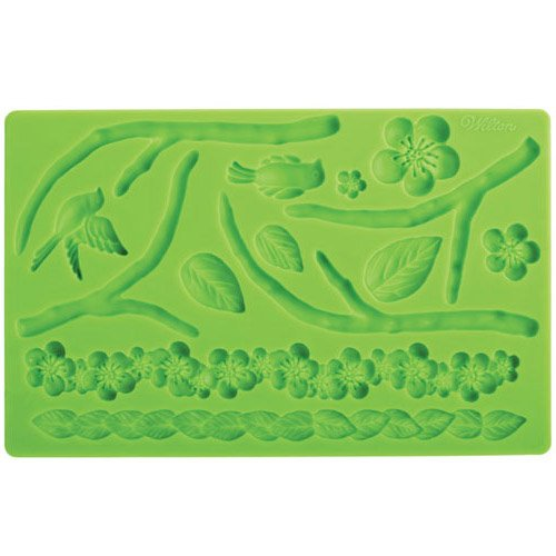 Wilton 409-2565 Fondant and Gum Paste Silicone Mold Nature
